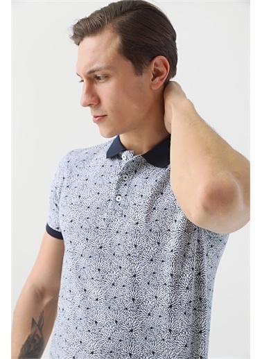 TWN Slim Fit Baskılı T-Shirt Lacivert